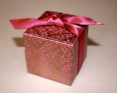 Wedding Favor Boxes - Great for Weddings, Receptions and Events- Handmade paper - Order Samples here