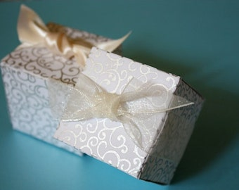 SALE - Wedding Favor Boxes - Handmade Paper - Great for weddings, Events, Parties and Occasions - ON SALE 0.65 Each Minimum Order 10 Boxes
