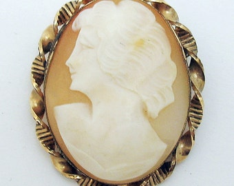 Family Heirloom Cameo Gold Filled Beautiful Old Piece