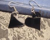 Black Heart Dangle Earrings- Laser Cut Acrylic
