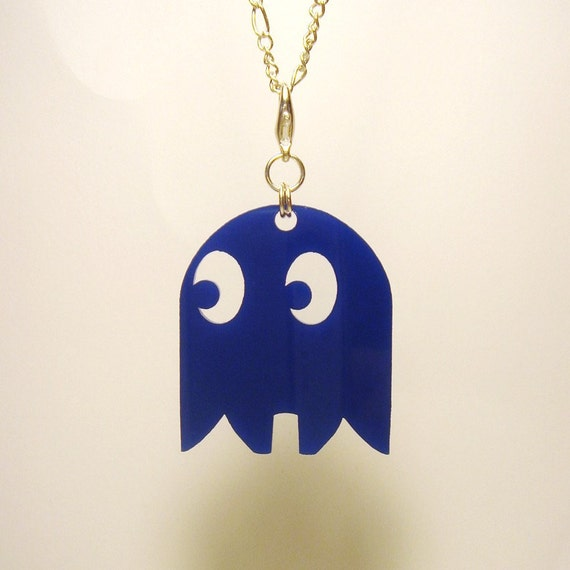 Pac-Man Ghost Pendant, Keyring, or Zipper Pull - Laser Cut Acrylic