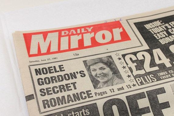 Vintage June 27 1981 Daily Mirror English UK Newspaper