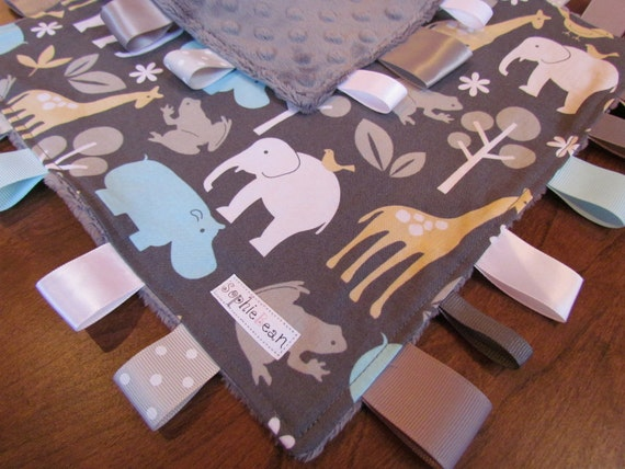 Taggie Cuddly Blanket (Zoology in Sea by Michael Miller)