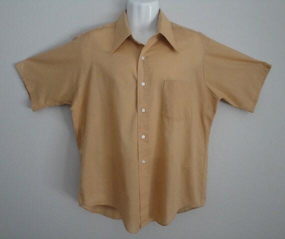 Vintage 1960s Mens Shirt Size Large 60s Van Heusen