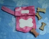 Pink Doggie Treat Bag or Dog Walker Waste Bag