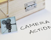 Video Camera Pendant Necklace- Video Camera jewelry