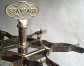3-Tier Vintage Metal Rubber Stamp Carousel by Standard- great industrial piece from the 1950's
