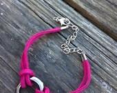 SPRING SALE Pomegranate Leather Bracelet
