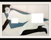 PATRICK NAGEL Fetish Nude Playboy Pin Up Art Print, Mature