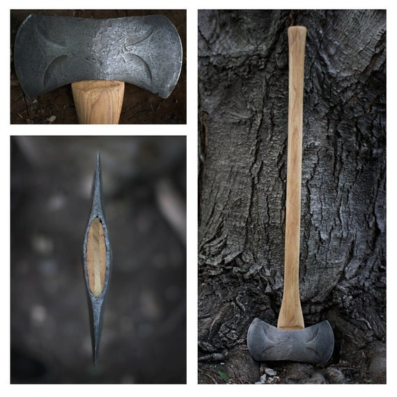 Restored Kelly Perfect Double Bit Axe