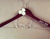 Bridal Hanger with 3 flowers & date