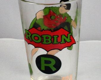 "1978 Pepsi Batman DC Comic ""Robin"" glass"