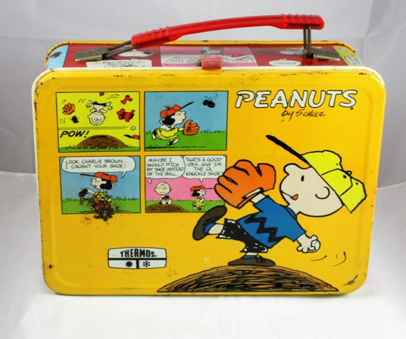 Peanuts Lunchbox Red Sides