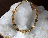 ITEM ON SALE!!! Swarovski crystal and gold moon bracelet