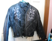 Size Small Leather Fringe Jacket