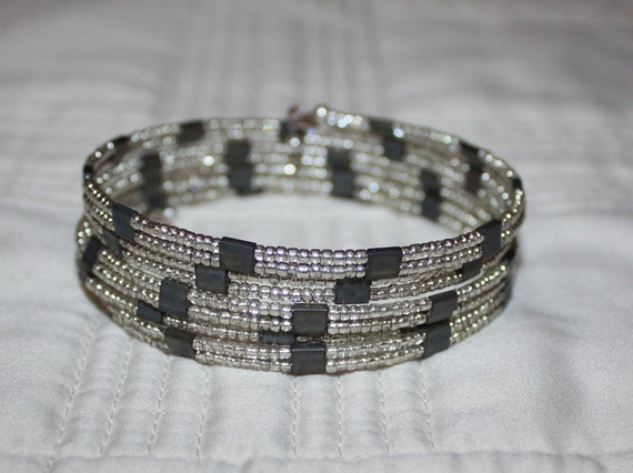 Double Strand Memory Wire Bracelet