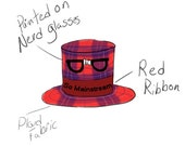 RESERVED for Myriam-Nora - Custom Tiny Top Hat - Hipster Hat