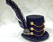 Tiny Top Hat: The Dark March - Lolita Cosplay Costume Party Fascinator Photo Photography Prop Wedding Tophat Small Mini Miniature little