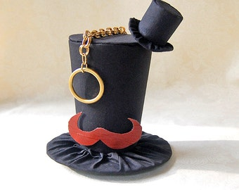Tiny Top Hat: Like a Sir - Lolita Cosplay Costume Party Fascinator Photo Photography Prop Wedding Tophat Small Mini Miniature little