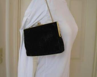Vintage Black Beaded Purse