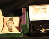 Dynamic Duo Vintage Watch Set Men's Bulova and a Lady's Hamilton