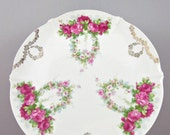 Victorian Cake Plate- German Porcelain Cake Plate- Marked Wierdan