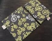 Bicycle Bag - reusable sandwich  & snack bag set