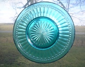 FREE SHIPPING  vintage teal plate suncatcher