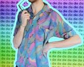 SEXY MIAMI BEACH watercolor ShORT SleeVED ShiRT