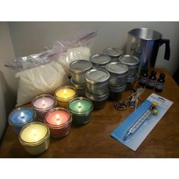 Complete Mason Jar Soy Candle Making Kit