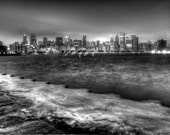 "Chicago Photography: Chicago Skyline 24"" x 36"" Urban Art"