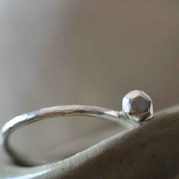Poor man's simple engagement ring. Sterling silver.