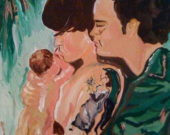 Custom Birth Art and Breastfeeding Portraits
