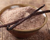 100% ORGANIC VANILLA SUGAR made with Organic Sugar and Organic Madagascar Vanilla Beans - VanillaSpices