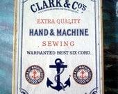 Vintage Nautical Advertising Box Clark & Co.