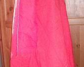 Cotehardie, medieval dress, red, size 30-32 or 5x, front lace, button up sleeves, 100% linen