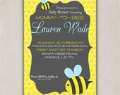 Mommy-to-Bee DIY Printable Baby Shower Invitation - Domestically Swanky Designs