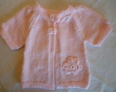 knitted baby sweater short sleeves
