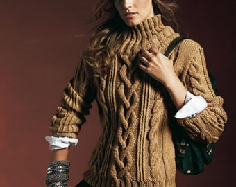 Camel Turtleneck Sweater