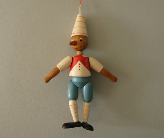 Vintage wooden pinocchio doll so3 by bluestarobscura on etsy