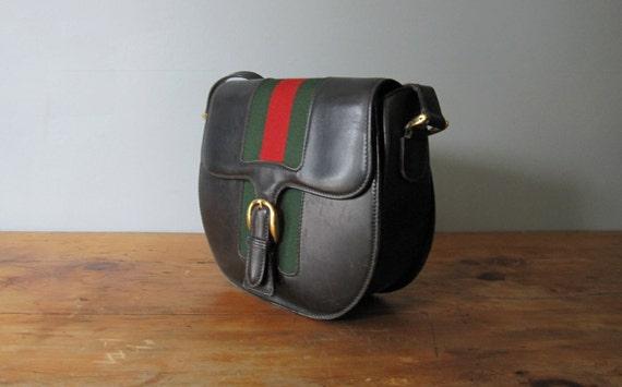 SALE 50% OFF - Vintage Gucci Saddle Bag, Messenger Bag/Satchel Bag //MAC15