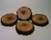 Drink Coasters, Wood, Rustic, Country, Log