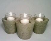 Wedding Centerpiece, Reception Table Decor, Vase, Cement Candle Holder, Tealight Holder, Miniature Vase