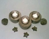 Concrete Bowl Fillers, Vase Fillers, Wedding Favors, Room Decor, Stars. SET OF TEN. July 4th