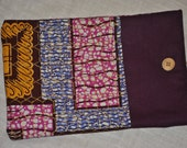 """MacBook 13"""" Sleeve - African Print, Pink, Purple & Gold Print - Custom Orders are Available"""