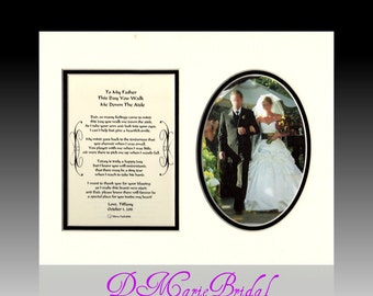 Wedding Father of the Bride Personalized This Day You Walk Me Down The Aisle Dad Gift Bridal Wedding Favor