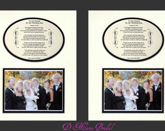 Two To Our Parents Wedding Gift Thank you personalized bridal party gift favor bride and groom