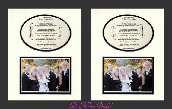 Unique Parent Wedding Gift Ideas: Two To Our Parents Wedding Gift Thank You Personalized Bridal
