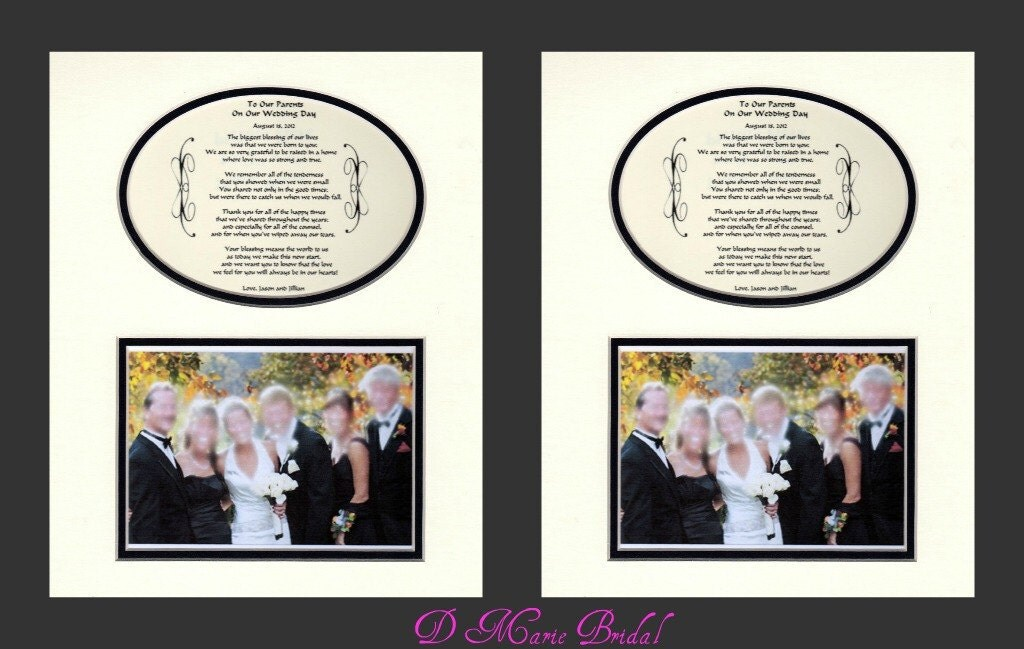 Parents Gift Wedding: Two To Our Parents Wedding Gift Thank You By DMarieBridal