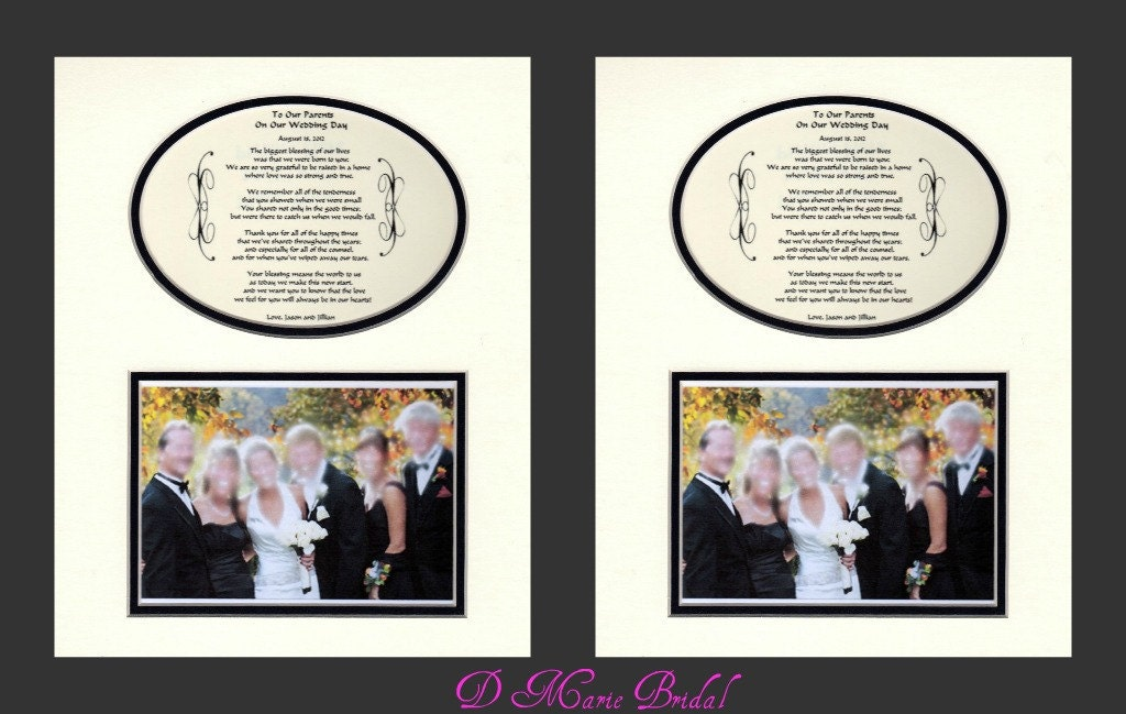 Special Wedding Gifts From Parents : Two To Our Parents Wedding Gift Thank you personalized bridal